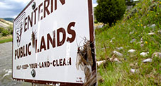 Entering Public Lands Sign
