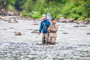 Vail Valley Anglers Guided Fly Fishing Half Day Wade Trips in Vail, Colorado.