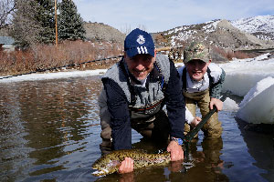 Vail Valley Anglers Guided Fly Fishing Winter Wade Trips in Vail, Colorado.