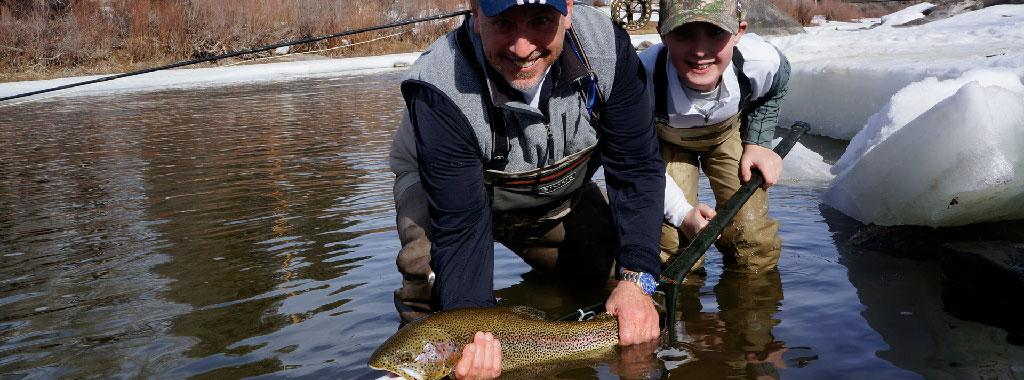Guided Half Day Winter Wade Fly Fishing Trip with Vail Valley Anglers in Vail, Colorado