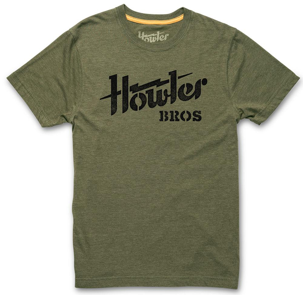 Howler Bros Howler Electric Stencil T-Shirt in Fatigue