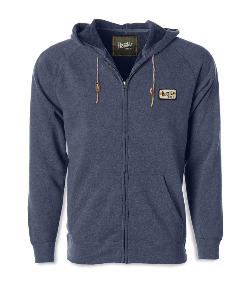 Howler Bros Full Zip Electric Stripe Hoodie in Navy