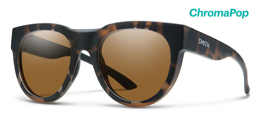 Smith Crusader Sunglasses Chromapop Polarized in Matte Tortoise with Brown main view