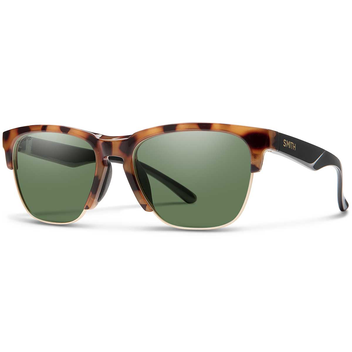 Smith Haywire Sunglasses Chromapop in Honey Tortoise with Grey Green main view