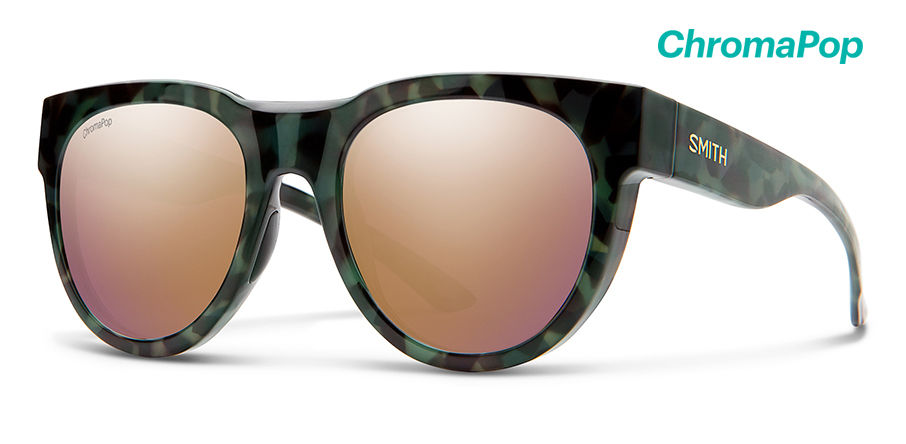 Smith Crusader Sunglasses Chromapop in Camo Tortoise with Rose Gold main view