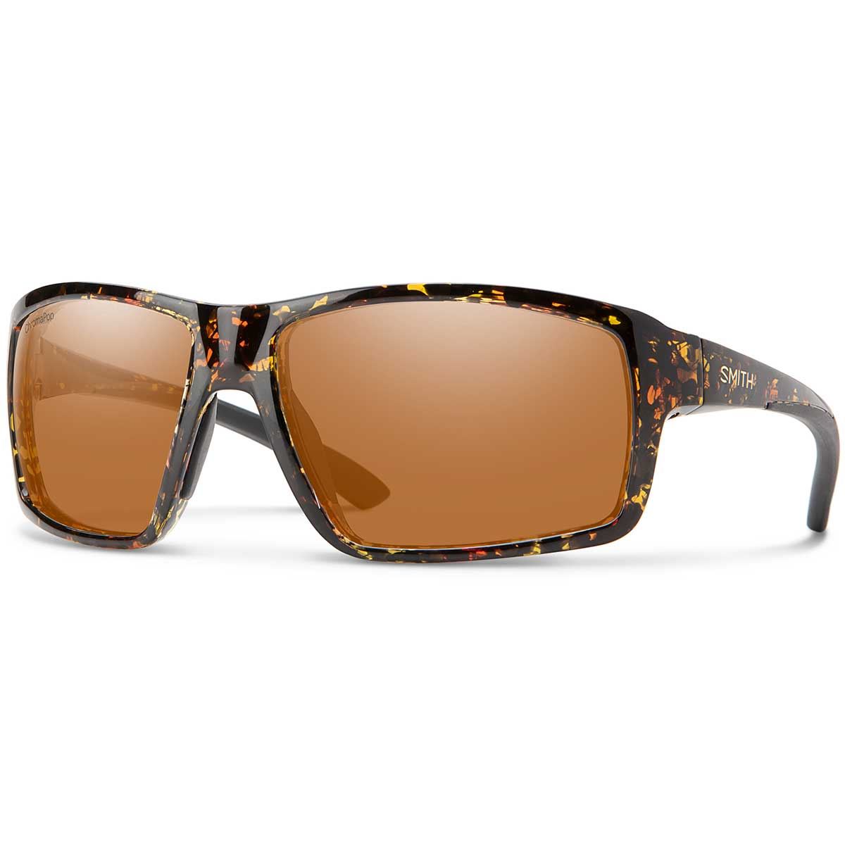 Smith Hookshot Sunglasses Polarized Chromapop in Dark Amber Tortoise with Copper main view