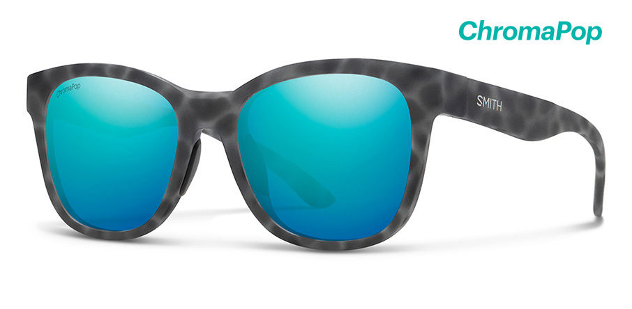 Smith Caper Sunglasses Chromapop in Matte Ash Tortoise with Opal Mirror main view