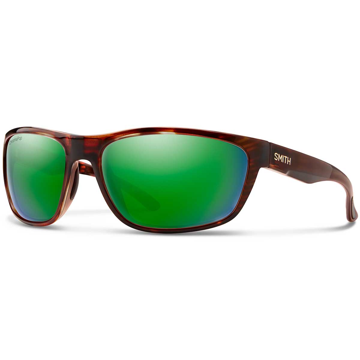 Smith Redding sunglasses in Tortoise with Green Mirror Glass polarized ChromaPop lenses
