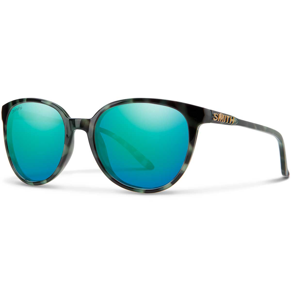 Smith Cheetah Sunglasses Chromapop in Camo Tortoise with Opal Mirror main view