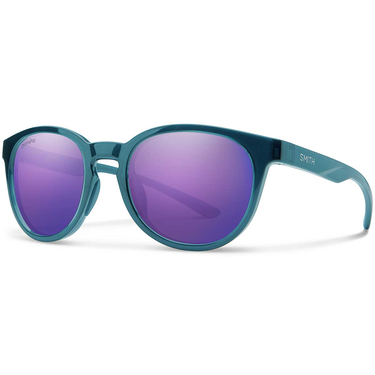 Smith Eastbank Sunglasses Chromapop in Crystal Mediterranean with Violet Mirror main view