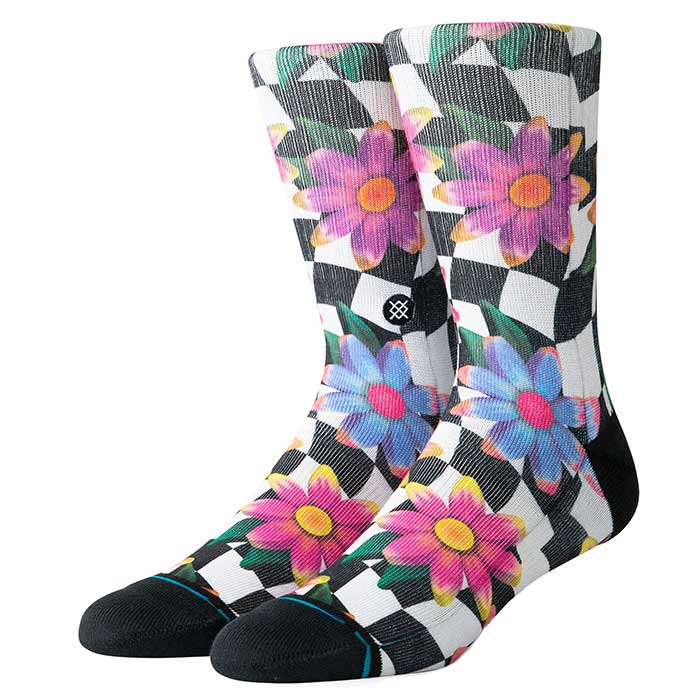 Stance Flower Rave crew sock in Multi